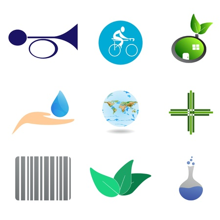 ampoule: Set - icons and symbols for different uses Illustration