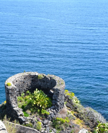 catania: Rocky coast of Sicily - Catania Stock Photo
