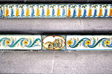 Staircase with features Sicilian ceramics