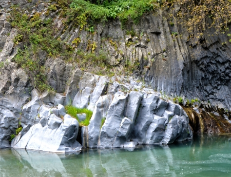 gorges: Alcantara Gorges Stock Photo
