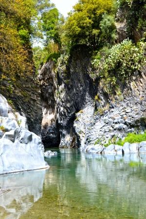 アルカンターラ峡谷 写真素材