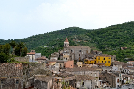 volcano slope:  Medieval Architecture, Sicily