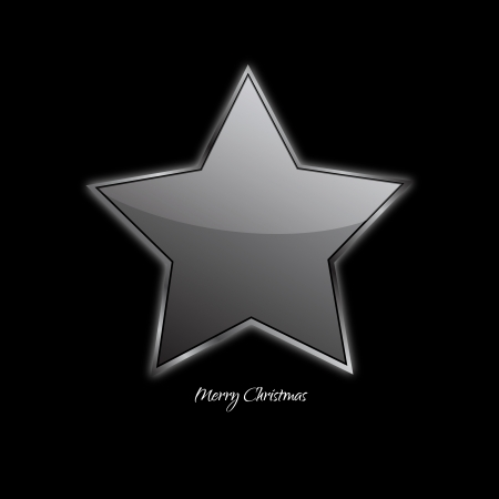 Abstract design - Christmas Star on a black background Vector