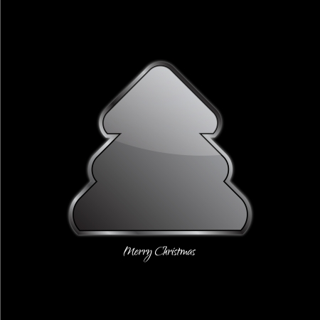 Abstract design - Christmas tree on black background Vector
