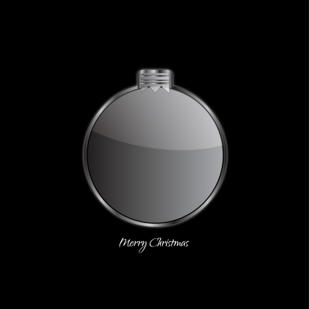 Abstract design - Christmas ball on black background Vector