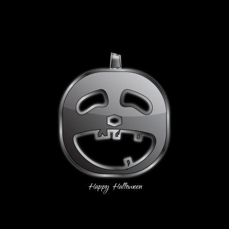 Abstract Design - Halloween pumpkin on black background Vector