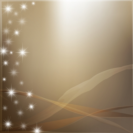 Golden abstract background with bright stars  photo