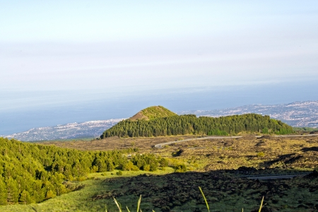 Mountain landscape of Mount Etna - Catania, Sicily Stock Photo - 22494908