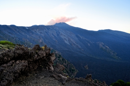 Valle del Bove - lava of Mount Etna, Sicily photo