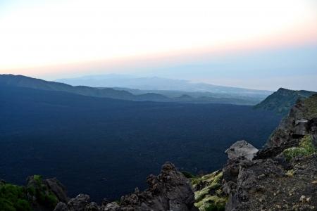 bove: Valle del Bove - lava of Mount Etna, Sicily Stock Photo