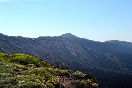 bove: Valle del Bove - lava of Mount Etna, Sicily Stock Photo