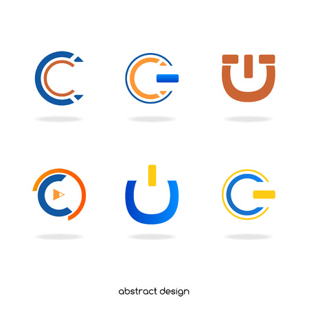 abstract initial  C Stock Vector - 22508852