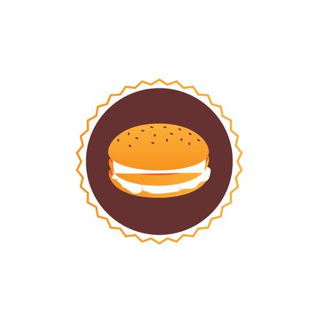 Graphic design - sandwich stylized monochrome Ilustrace