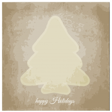 Graphic design - Christmas tree, vintage Vector
