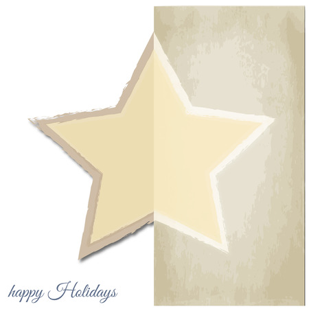 Graphic design - Star, christmas, vintage Vector