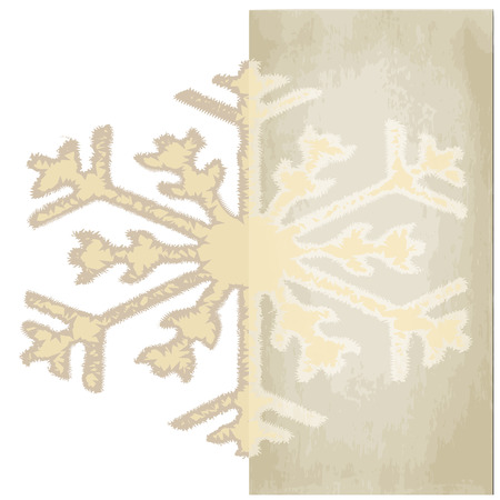Graphic design - Snowflake Christmas, vintage  Vector