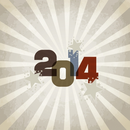 New year illustration - background with vintage written in 2014 Vector