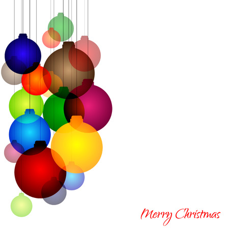 Graphic design - cheerful background with christmas balls  Vector
