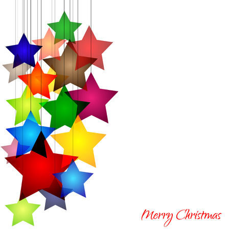 Graphic design - cheerful background with colorful stars