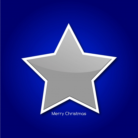 Graphic design - Star, christmas, blue  Vector