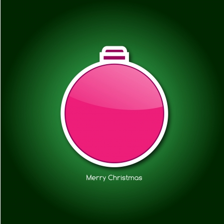 Graphic design - Christmas ball, green Vector