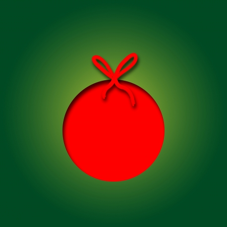 Graphic design - Christmas ball, red Vector