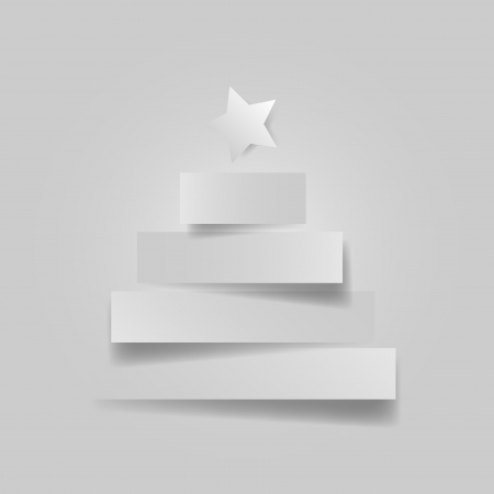 Graphic design - Christmas tree with star Vector