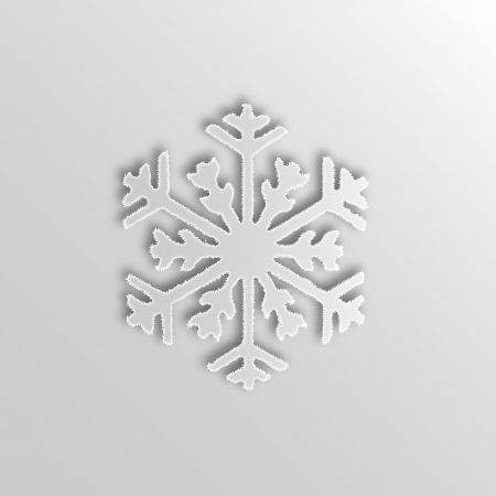 Graphic design - Snowflake, 2d effect Vector