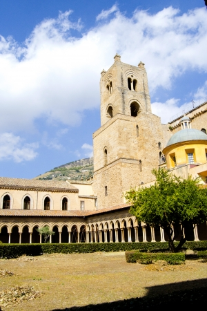 Sicily - Cloister of the Cathedral of Monreale, Palermo photo