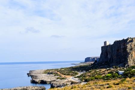 trapani: Trapani coast, rocks and clear water - Sicily