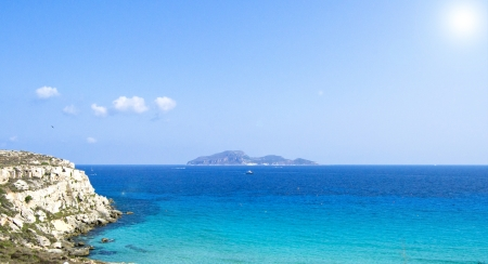 Favignana - Wonderful island of the Egadi in Trapani, Sicily photo