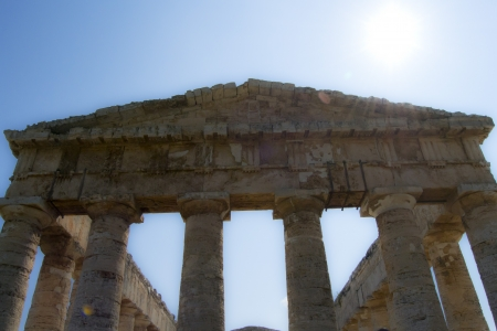 segesta: Ancient temple of Segesta in the valley - Trapani, Sicily Stock Photo