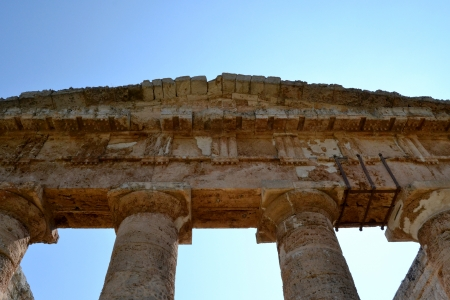 segesta: Ancient temple of Segesta in the valley - Agrigento, Sicily