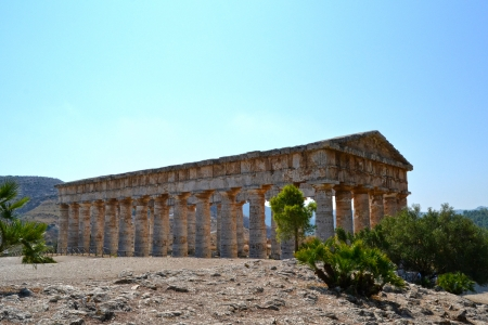 Ancient temple of Segesta in the valley - Agrigento, Sicily photo