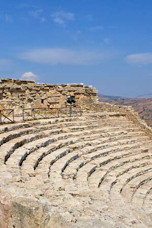 segesta: Ancient amphitheater of Segesta Valley - Trapani, Sicily