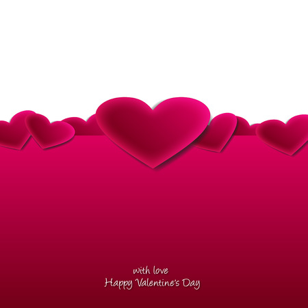 Romantic background with hearts for Valentine s Day Vector