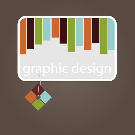 Graphic design - business card with colored strips Stock Vector - 25867373