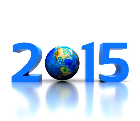 Worldwide  celebrates the New Year - 2015 photo