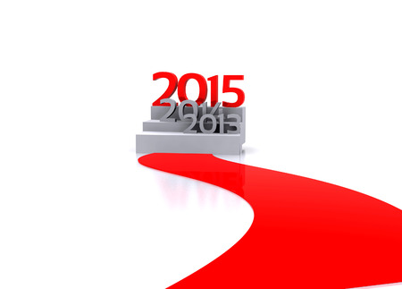 3D illustration - Here comes the new year     2015 illustration