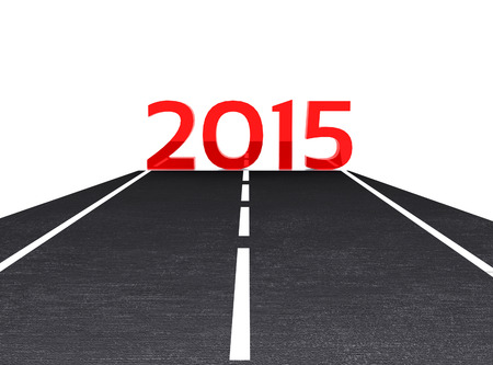 3D illustration - the road leading to the New Year 2015 illustration