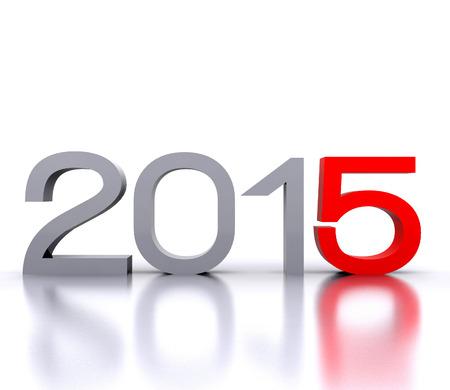 Nadchodzi nowy rok 2015 - 3D Zdjęcie Seryjne