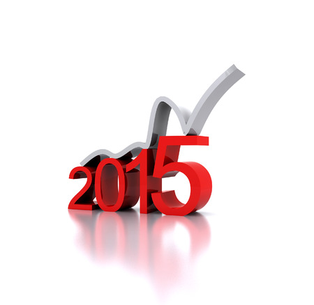 3D illustration - a recovery in the New Year 2015 illustration
