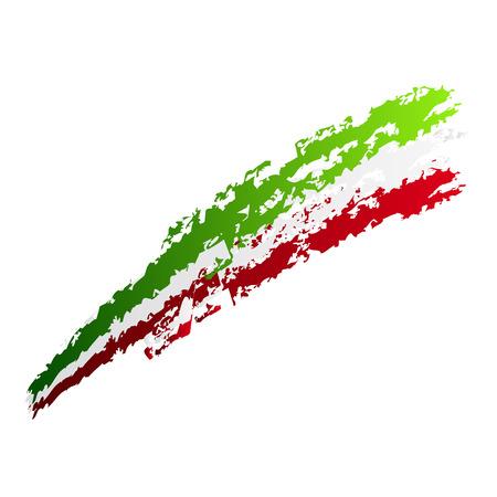 Projekt graficzny z kolorami włoskiej flagi Ilustracja