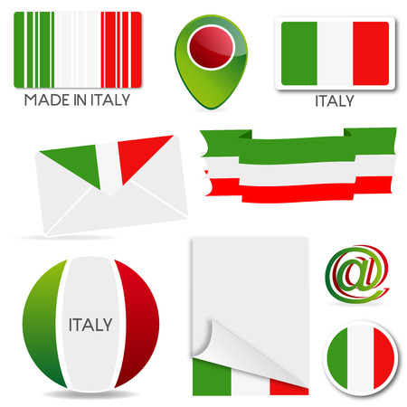 Graphic design with the colors of the Italian flag Vector
