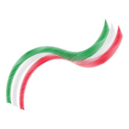 bandiera italiana: Graphic design con i colori della bandiera italiana Vettoriali