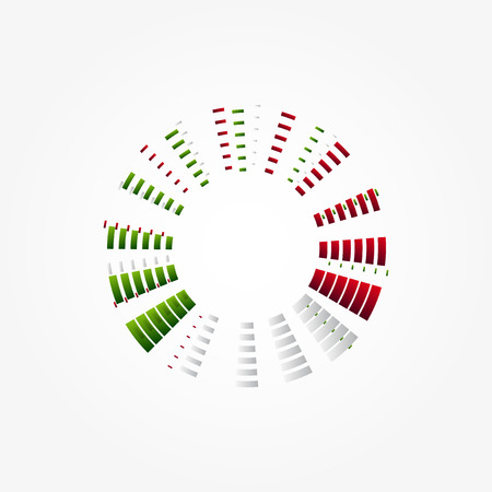 bandera de italia: Dise�o gr�fico con los colores de la bandera italiana Vectores