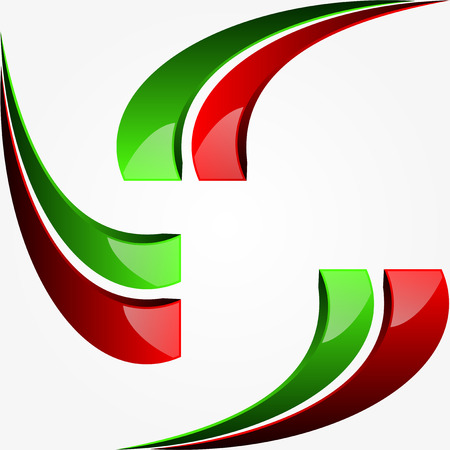italian flag: Graphic design with the colors of the Italian flag