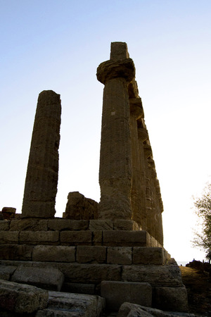 valley of the temples: Temple of Juno - Valley of Temples, Agrigento Stock Photo