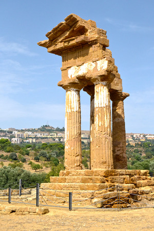 valley of the temples: Temple of the Dioscuri - Valley of the Temples, Agrigento Stock Photo