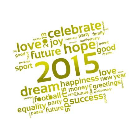 Abstrakcyjna tła - Szczęśliwego Nowego Roku 2015